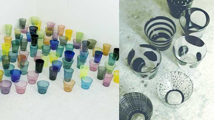 涼しげで、かわいくて、個性的!食卓を彩る作家モノ(辻和美さん作)のガラス食器