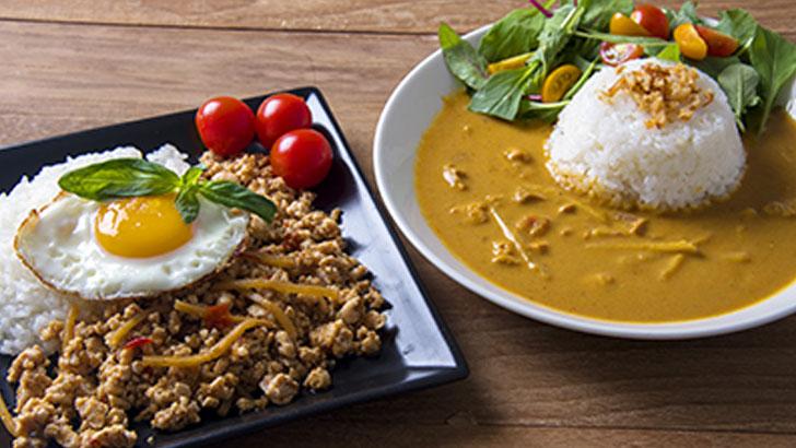 【麻布タカノ】カフェ飯シ~ガパオベースとバリ風チキンカレー食べ比べ