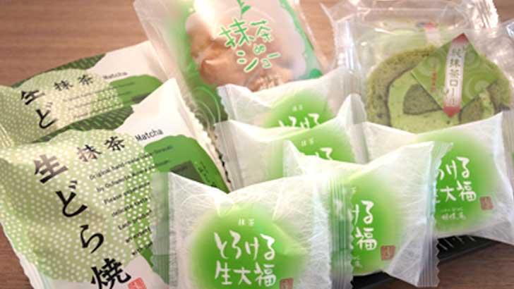 【胡蝶庵】純抹茶ロール、抹茶deシュー、抹茶生どら焼き、とろける生大福、最高級抹茶をふんだんに使った抹茶スイーツ食べ比べ