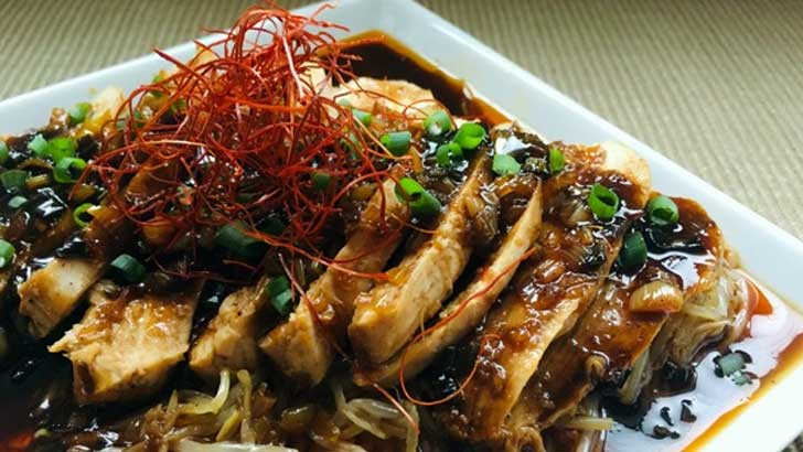 よだれ鶏の簡単レシピ~脂肪が少なく低カロリーでダイエットにも効果アリ
