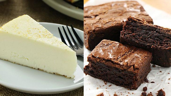 【SAM'S】NYスタイルのチーズケーキとチョコレートブラウニー+クッキー&クリームタイプのチーズケーキ