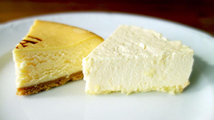 小岩井農場のベイクドチーズケーキとレアチーズケーキ