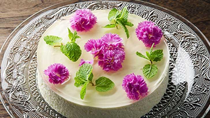 パティスリーヒロアキのフラワーレアチーズケーキ