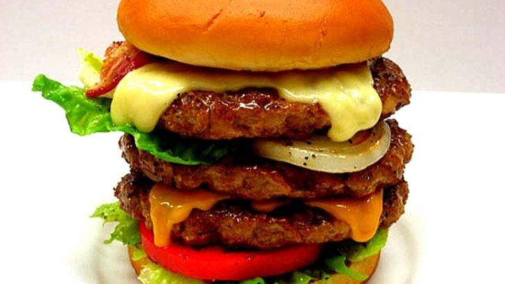 ハンバーガーの食品サンプル