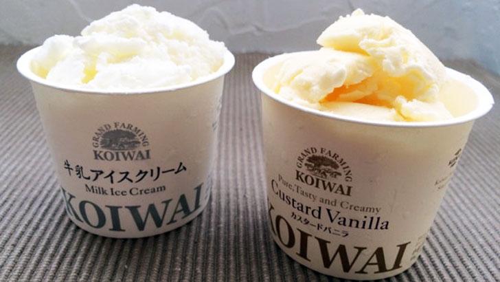 小岩井農場 特製アイスクリームセット(カスタードバニラ&ミルク)